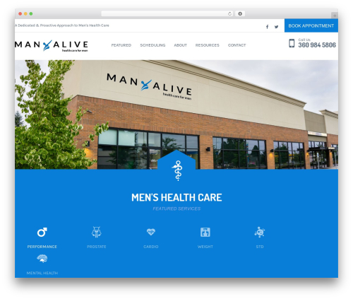 Free WordPress Gutenberg plugin - manaliveclinic.com