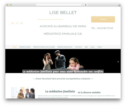 HypnoTherapy WordPress website template - mediation-familiale.fr