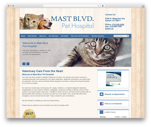 Lifelearn (Theme 7) WordPress page template - mastblvdpethospital.com