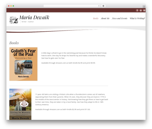 Longevity WordPress template free - mariadewaik.com