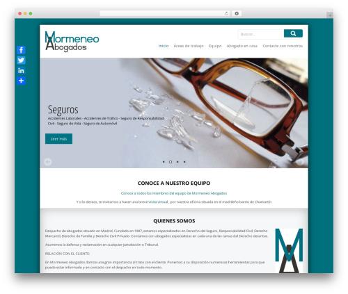 mormeneo best WordPress template - mormeneoabogados.com