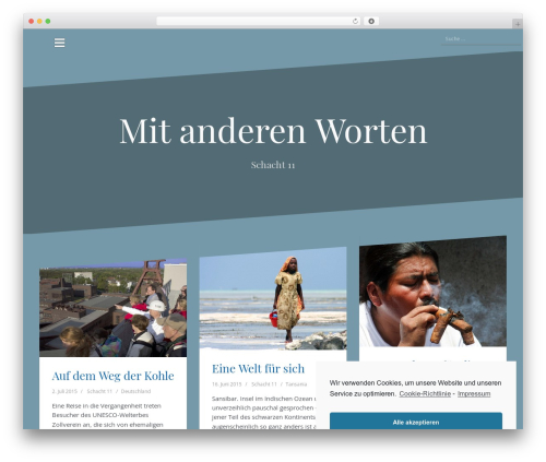 Oblique best free WordPress theme - mitanderenworten.de