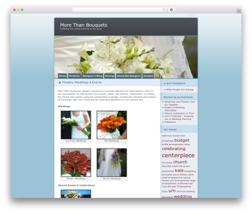 Ocean Mist WordPress website template - morethanbouquets.com