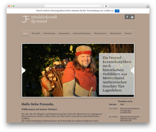 Quare WordPress theme - mittelalterkeramik.de