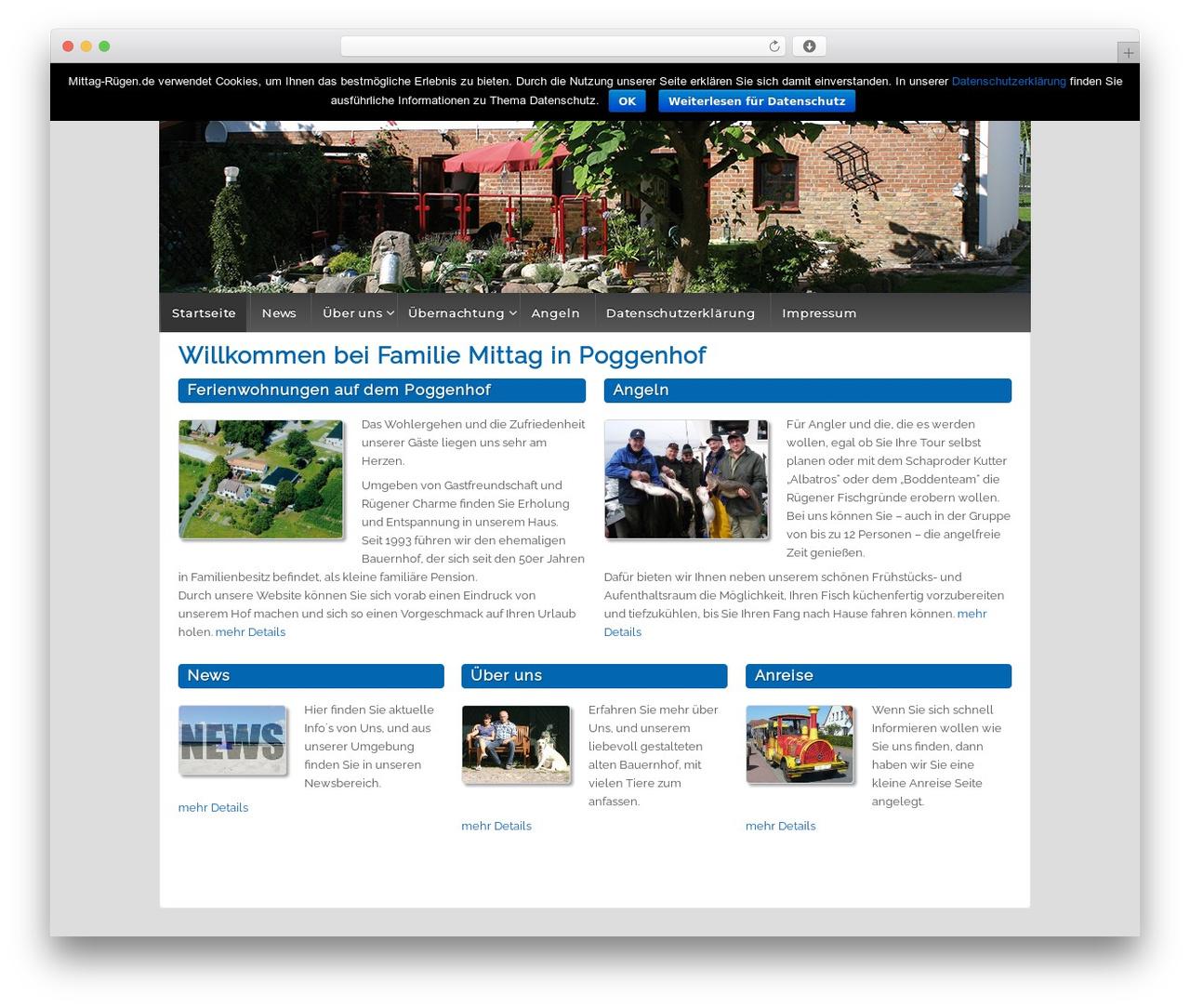 Responsive WordPress theme - mittag-ruegen.de