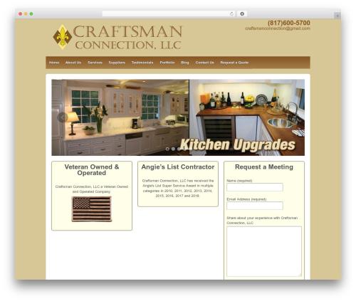 Responsive WordPress theme - mycraftsmanconnection.com