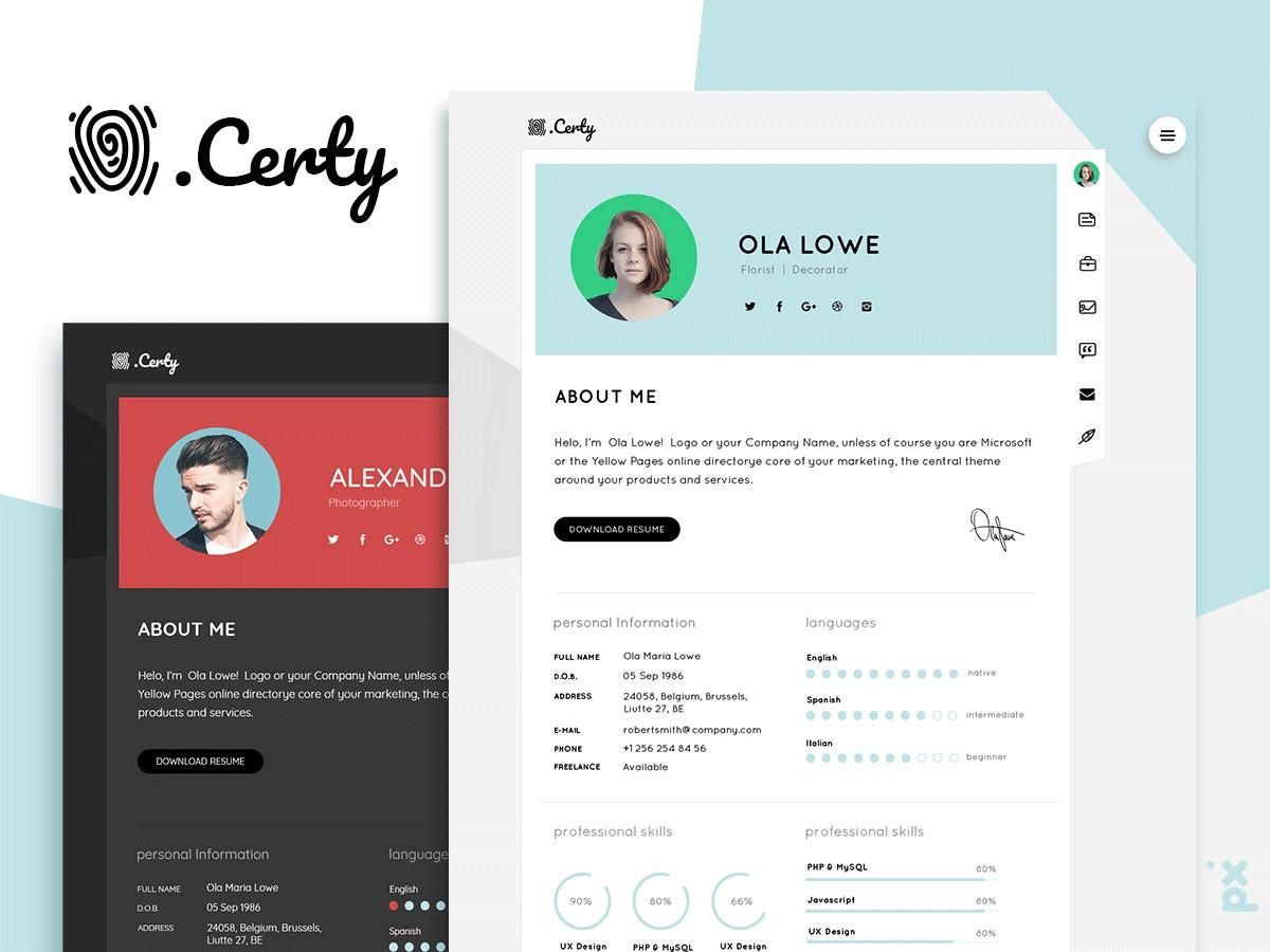 Template WordPress Certy