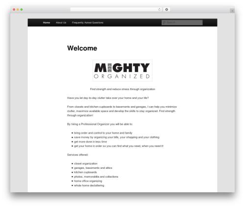 Template WordPress Twenty Eleven - mightyorganized.com