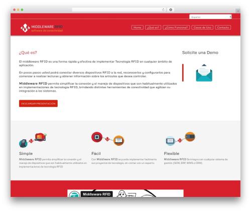 WebFlow best WordPress theme - middlewarerfid.com