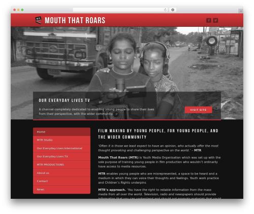 WordPress template MTR - mouththatroars.com