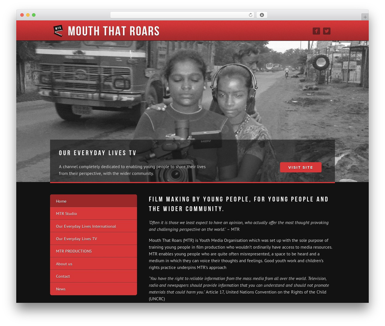WordPress template MTR - mouththatroars.com