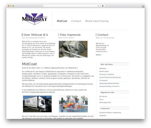 WordPress theme Simple Organization - midcoat.nl