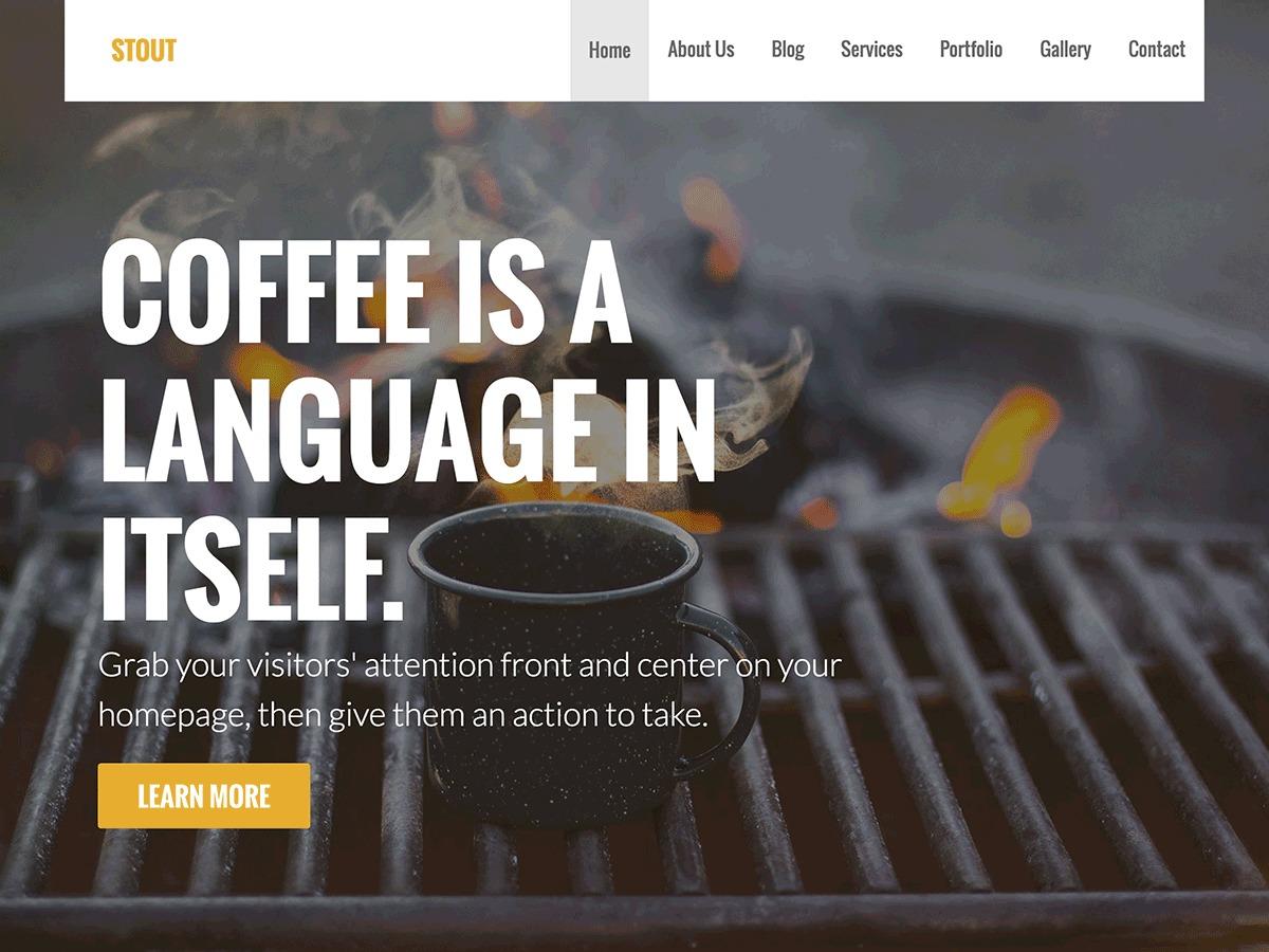 WordPress website template Stout