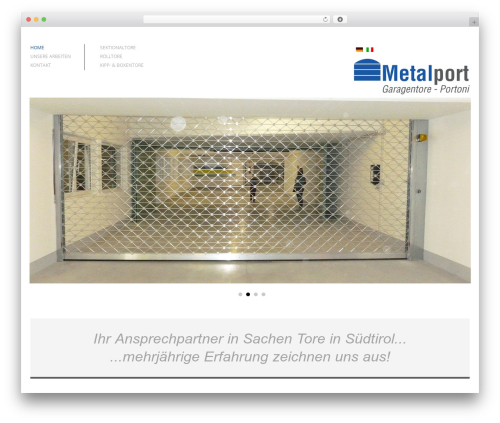 Architecture theme WordPress - metalport.it