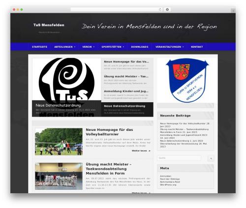 Best WordPress template Sportimo Premium Theme - mensfelden.de
