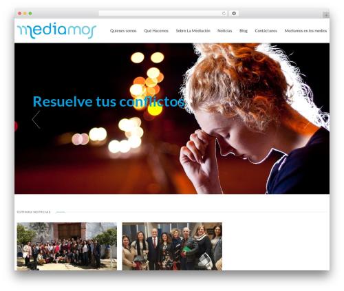 Best WordPress template VistaTheme - mediamos.org