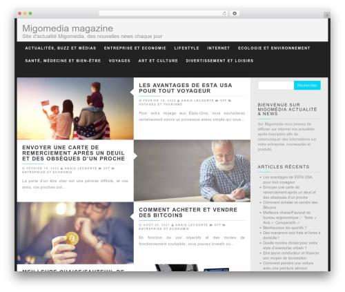 Best WordPress theme PressNews - migomedia.fr