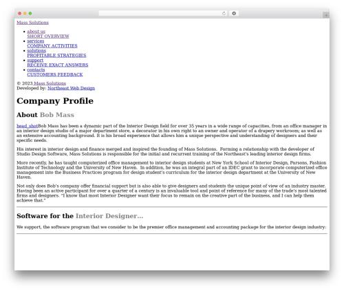 Best WordPress theme Responsive - masssolutions.com