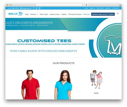 WordPress tshirtecommerce plugin - mblue.in
