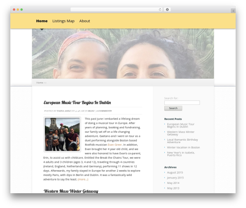 Explorable WordPress theme - mangosymusica.com