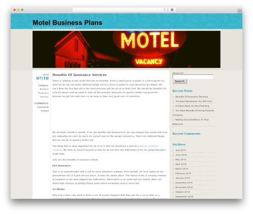 FloatingLight WordPress template for business - motelbusinessplans.com