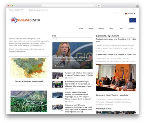 Inspira best WordPress theme - migrantcenter.ro