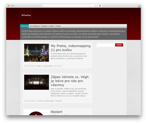 multi-color WordPress blog template - milanbey.com