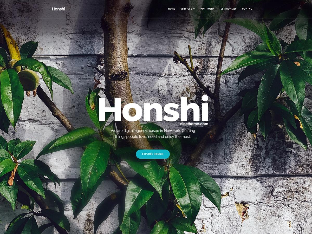 NT Honshi WP theme