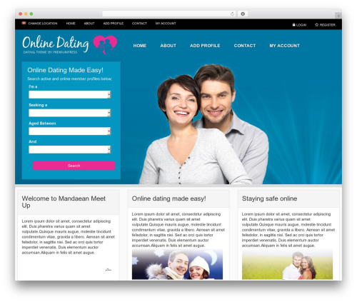 Responsive dating theme