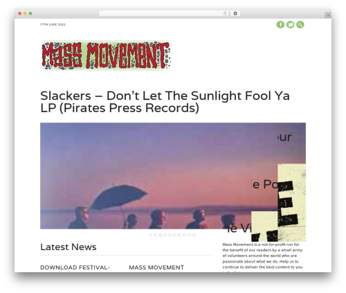 The Newswire WordPress theme - massmovement.co.uk