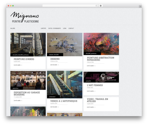 WordPress template Gridly - mignano.org