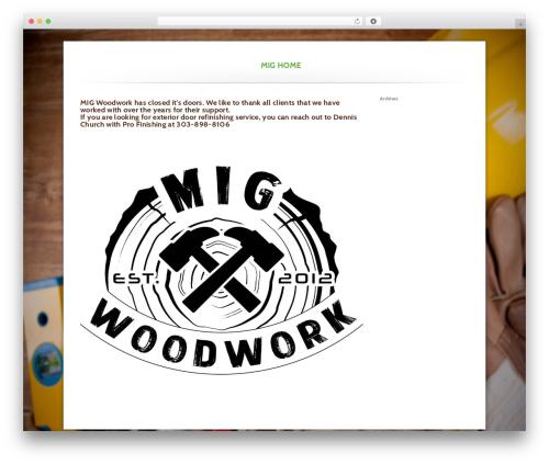 WordPress theme Higher - migwoodwork.com