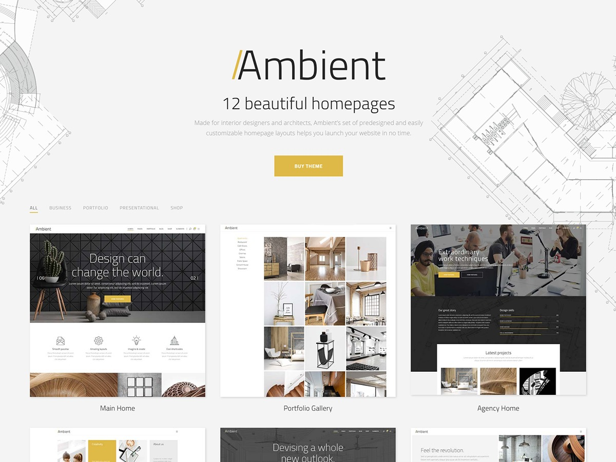 Ambient premium WordPress theme