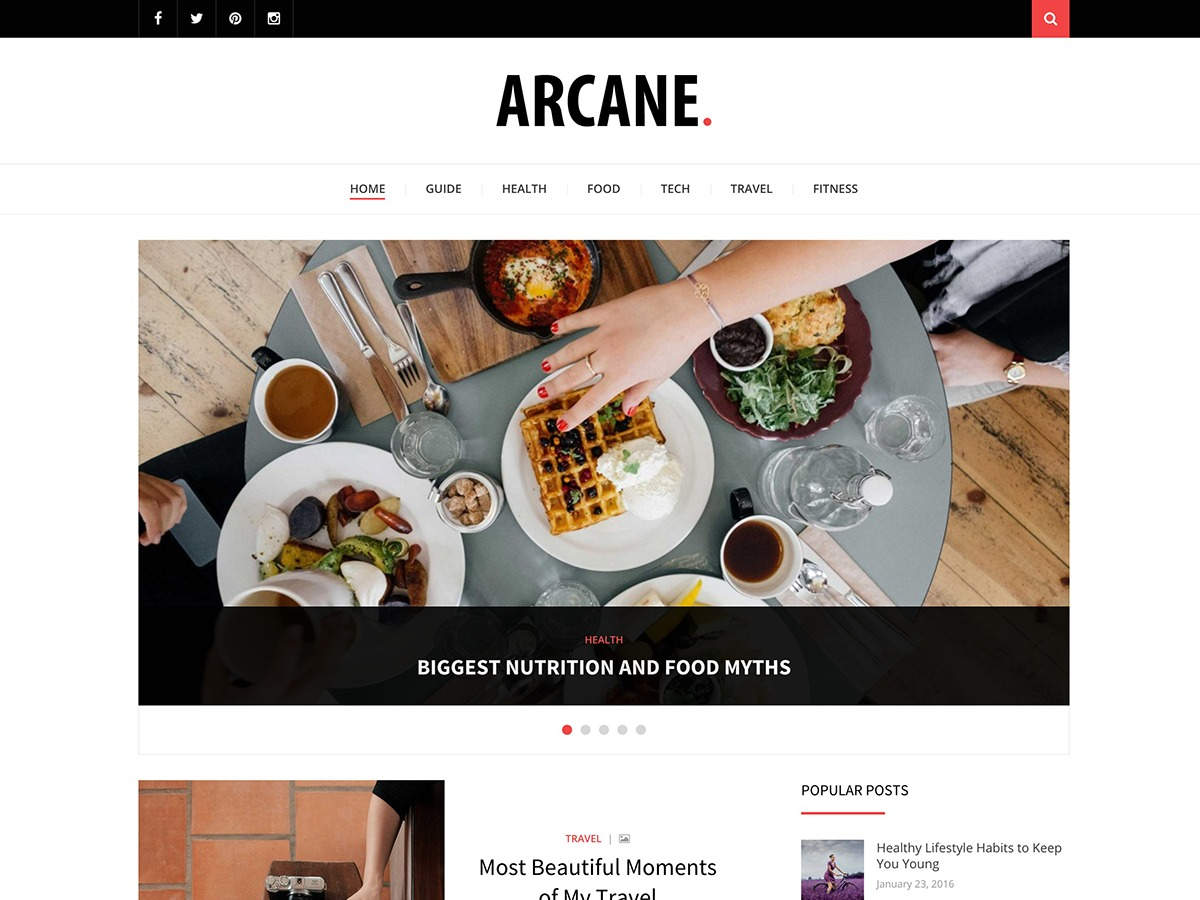Arcane best WordPress magazine theme