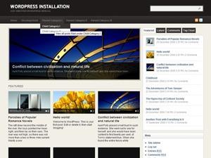 Arras Theme WordPress news template