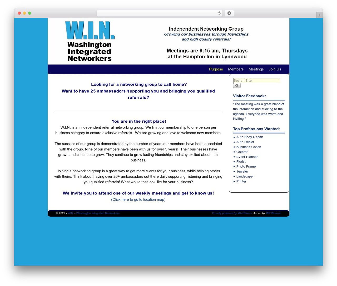 Aspen Wordpress Template For Business By Bruce Wampler Win