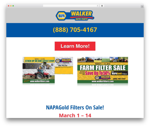 Autoshop Solutions Child best WordPress template - walkerfilters.com