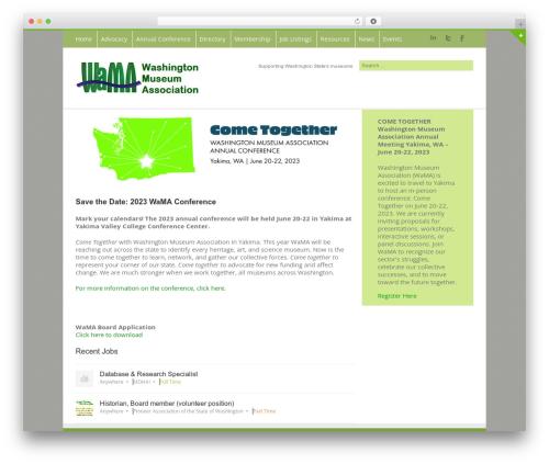 Avada theme WordPress - washingtonmuseumassociation.org