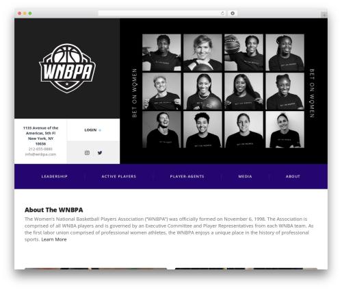 Best WordPress template Adrenaline PT - wnbpa.com