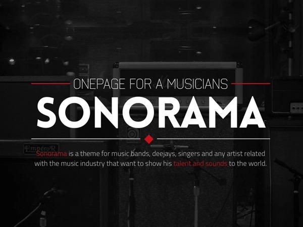 Best WordPress template Sonorama