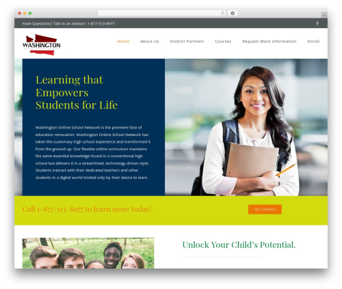 Best WordPress theme Avada - washingtononlineschool.com