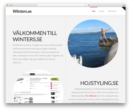 Best WordPress theme X - winters.se