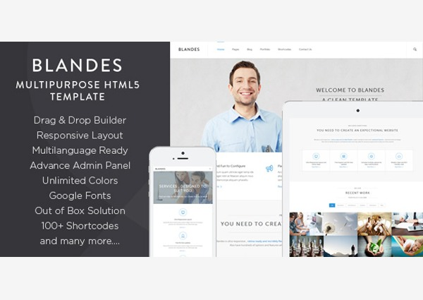 Blandes best WordPress theme