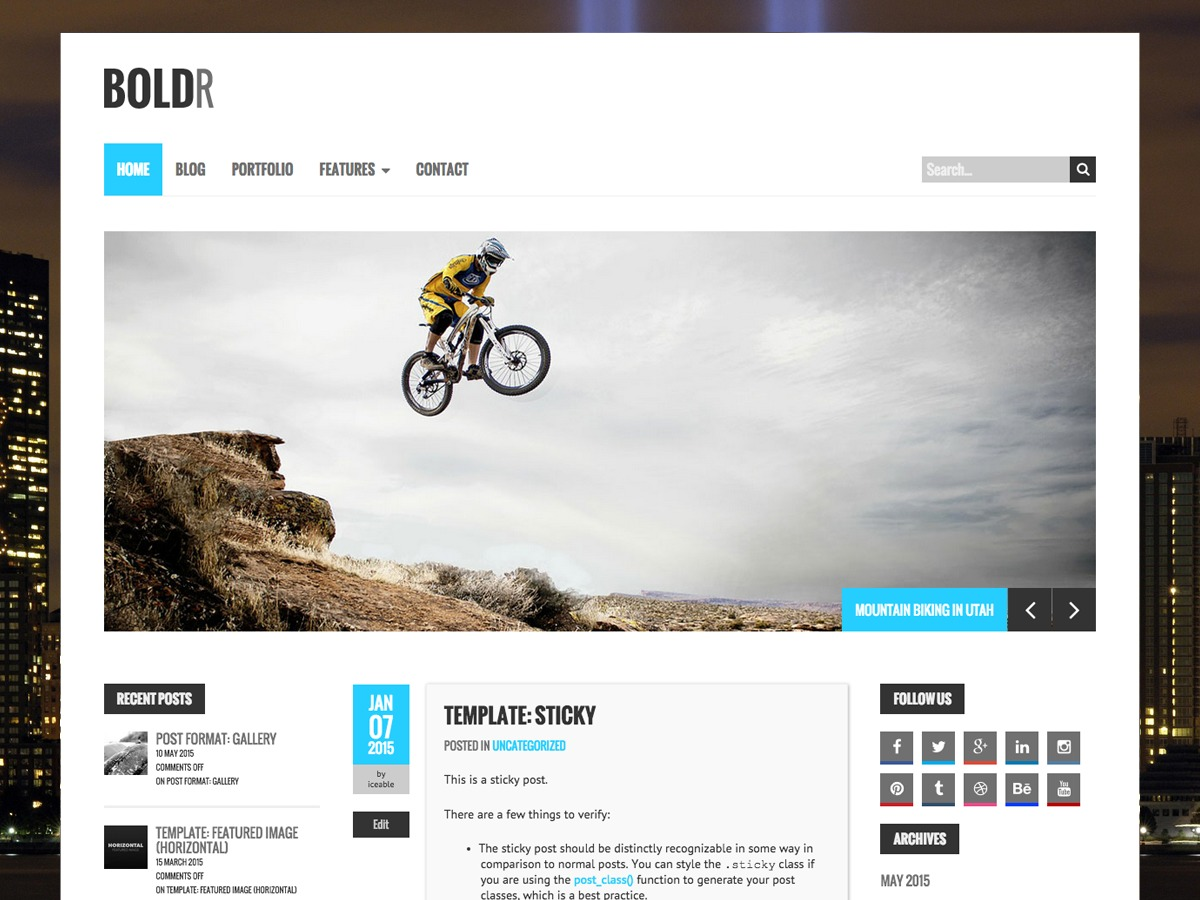 BoldR Pro WordPress news theme
