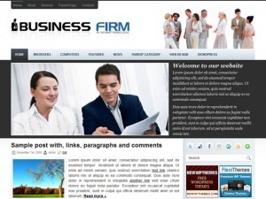 BusinessFirm WordPress template for business