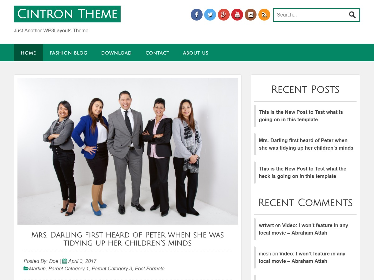 Cintron company WordPress theme