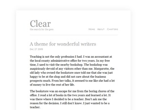 Clear WordPress theme