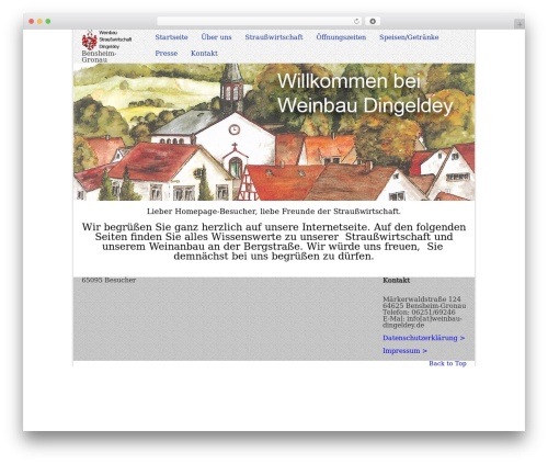 Current free WordPress theme - weinbau-dingeldey.de