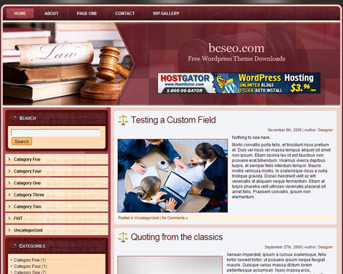 Customized theme WordPress