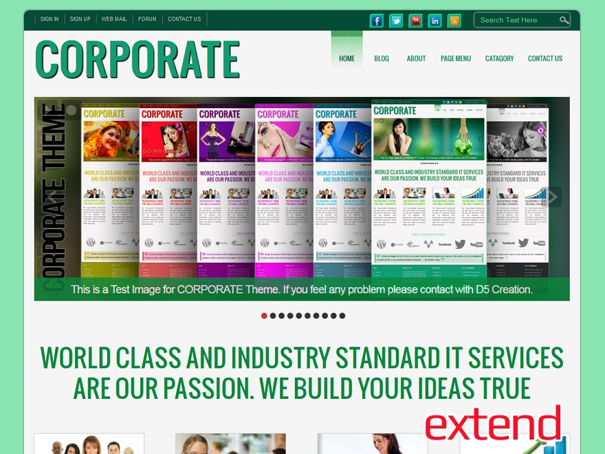 D5 CORPORATE Extend company WordPress theme